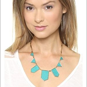 House of Harlow 1960 Turquoise and Gold Necklace